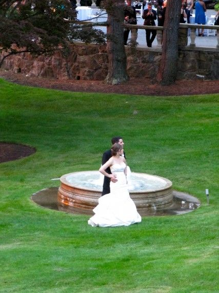 Bride and Groom at Tappen Hill for Wedding  http://www.expresswaymusic.com/2012/tappen-hill-wedding-dj-with-harpist/#