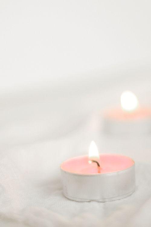 Pink tealights: