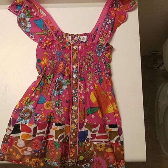 Summer shirt Super cute only worn maybe twice. Says medium, but I think feels like a small. Tops Tank Tops