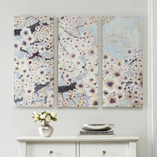 """Found it at Wayfair - """"Gleeful Bloom"""" by Norm Wyatt Jr. 3 Piece Painting Print on Wrapped Canvas Set"""
