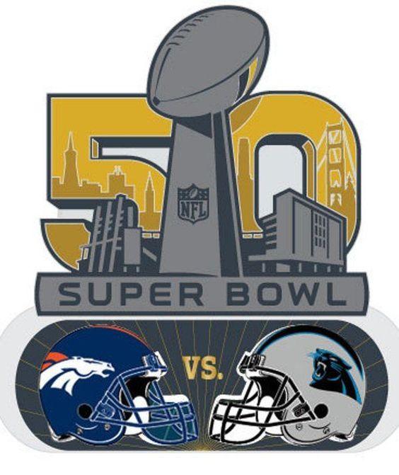 Official NFL Super Bowl Superbowl 50 Carolina Panthers vs Denver ...
