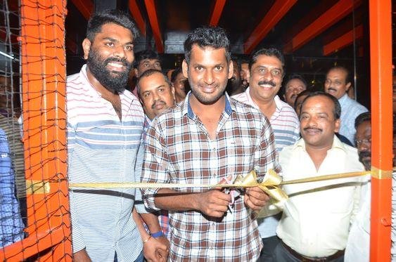 Actor Vishal Inugurate V Square Sports Arena in Mogappair