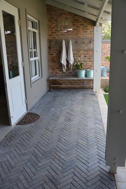 Flamed Granite Herringbone Cobble Creative Stone Patio Stones Outdoor Paving Outdoor Flooring