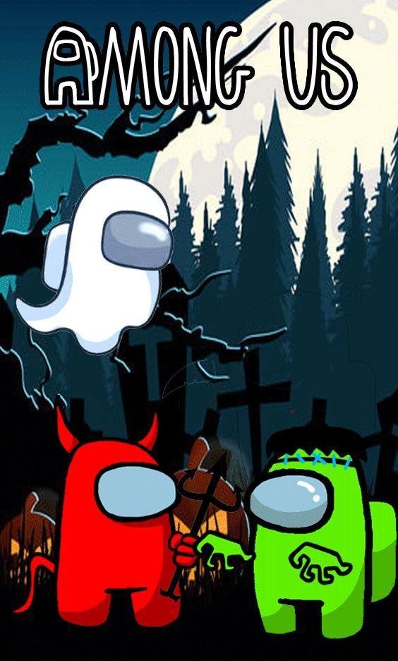 Among Us Halloween Rap Wallpaper Casual Game Mac Games