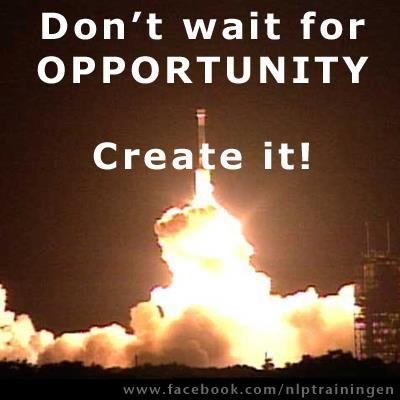 Wacht je kansen niet af, creëer ze!