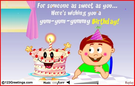 SWEET BIRTHDAY MESSAGE KIDS birthday card Pinterest – Birthday Card for Child