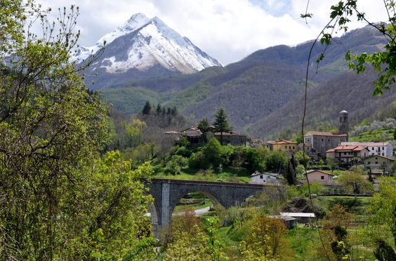 View from the village of Luscignano, in Lunigiana, Tuscany