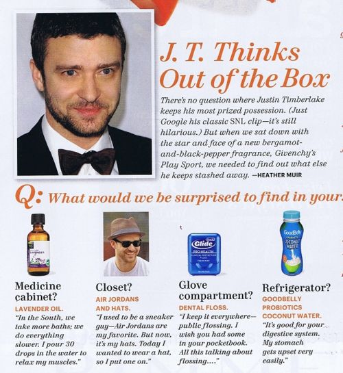 Even Justin Timberlake is taking probiotics!