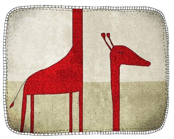 Giraffe by aliette on Etsy, $25.00