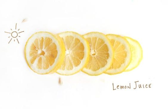 Lemon juice and the sun can treat brassiness in hair