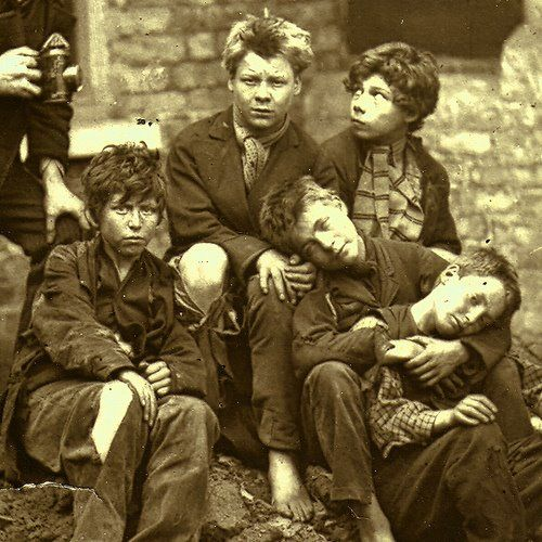 Chimney Sweep Children...they were hired to clean chimneys because of their small size if you couldn't afford a chimney sweep you would use a live goose.