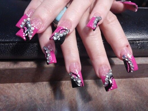 Glam pink and black