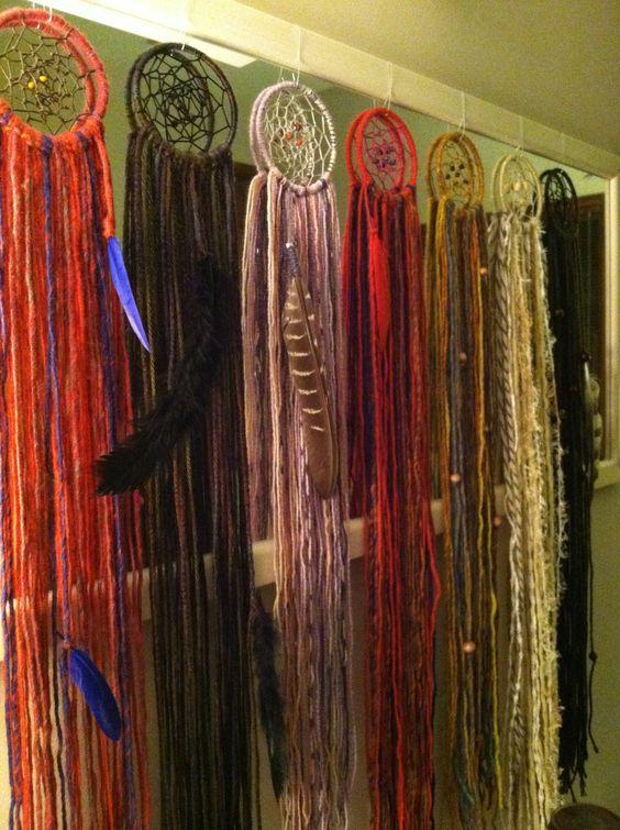Crimson and Clover handmade dreamcatchers