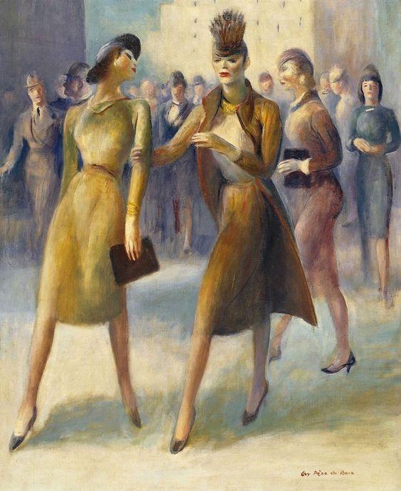 Guy Pène du Bois - 42nd Street, 1945. Oil on canvas, 81.2 x 66 cm. Thyssen-Bornemisza Museum, Madrid, Spain