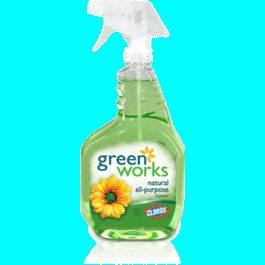 Green Works Natural All Purpose Cleaner works great on stainless steel, sealed granite counters, sinks, bathtubs, toilets, etc. Smells like freshly squeezed lemon juice!