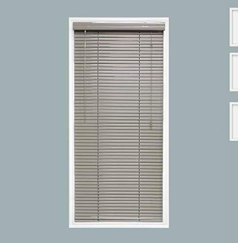 Tailorview Custom Made 1 Inch Aluminum Horizontal Venetian Window Mini Blind Mercury Gray Inside Mount Inner Window Size 6 In 2020 Blinds Mini Blinds Window Sizes