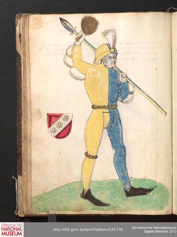 Merkel Hs 2° 241  Schembartbuch [o.O.]: 1551/1600 Illustration: Ulrich Macher und Hentzlein Satler (Haubtleut 1481)