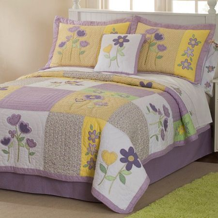 Girl's Quilts ~ Patch of Flowers Quilt