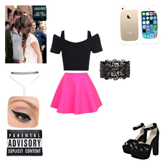 """""""Party"""" by alley-neagle on Polyvore featuring UNIF, Boohoo, FingerPrint Jewellry, Wet Seal and LORAC"""