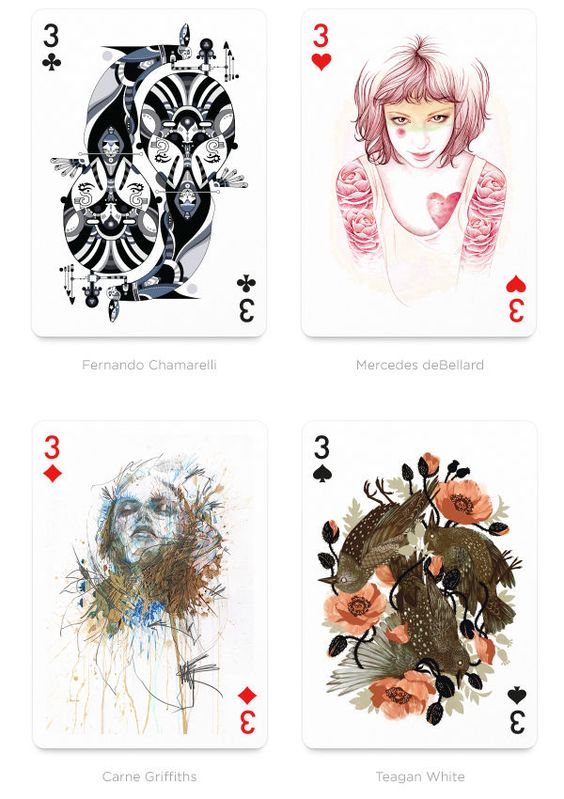Fantastical Playing Card Collaborations : playing arts