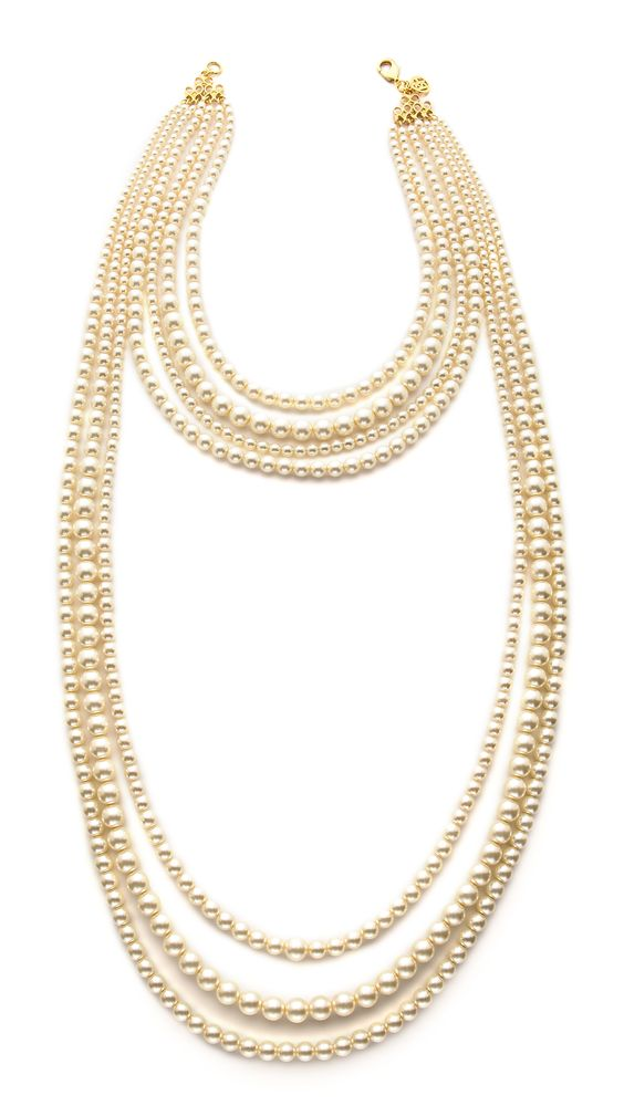 Ben-Amun Imitation Pearl Layer Necklace