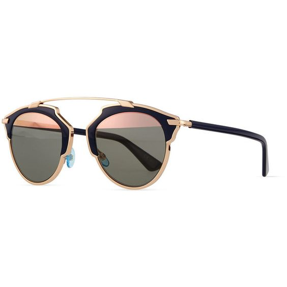 Dior So Real Brow Bar Sunglasses (¥75,335) ❤ liked on Polyvore featuring accessories, eyewear, sunglasses, dark blue, lens glasses, christian dior eyewear, christian dior sunglasses, plastic glasses et mirror glasses