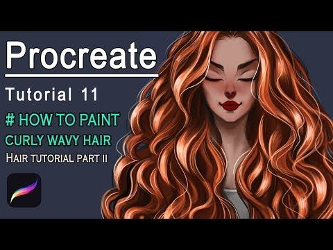 Procreate How To Paint Curly Wavy Hair Hair Tutorial 2 Youtube In 2020 Hair Tutorial Wavy Curly Hair Wavy Hairstyles Tutorial