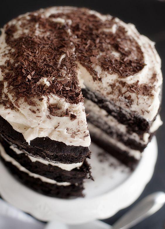 Guinness Chocolate Cake With Irish Cream Buttercream