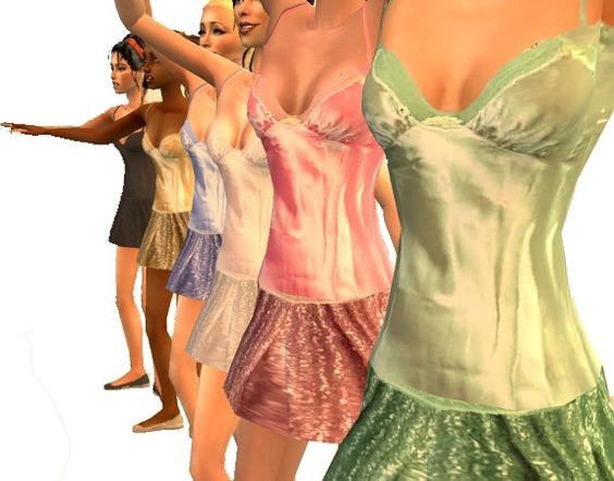 ModTheSims - Teen Ballet Dresses - comes in 6 colours!