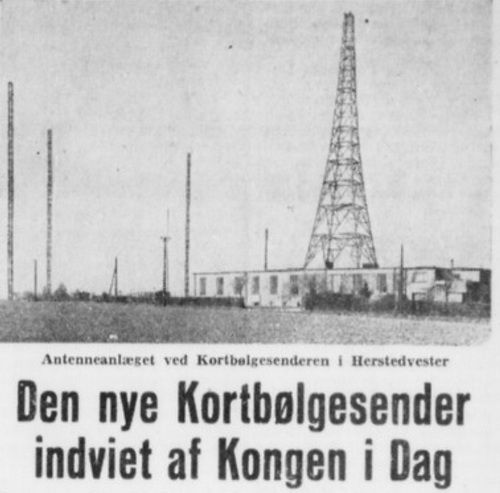 Dansk Radio Herstedvester Radiofonistation Radio Nye Danmark