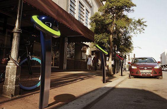Perro perdiguero:  Nunca mas vueltas sin rumbo buscando un lugar para estacionar. Retriever es un sistema de estacionamiento que funciona con una aplicación para smartphone para ayudar a los conductores a encontrar, libre y pagar por un lugar abierto. Red Dot Award, Savannah College of Art and Design