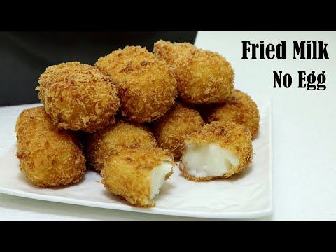 Fried Milk Recipe No Egg Condensed Milk Without Lemon Zest And Cinnamon Powder Youtube In 2020 Milk Recipes Dessert Recipes Easy Fried Milk