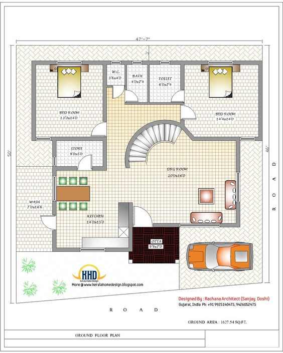 Charming Architectural House Plans #1 - House Plans Designs India ...