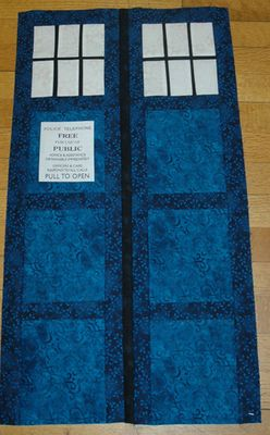Make a TARDIS Quilt for Your Favorite Doctor Who Fan: Sew the TARDIS Quilt's Doors