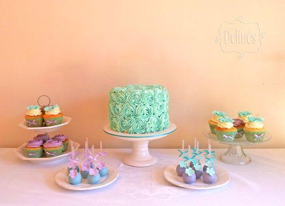 Mesa dulce romántica para 15 años