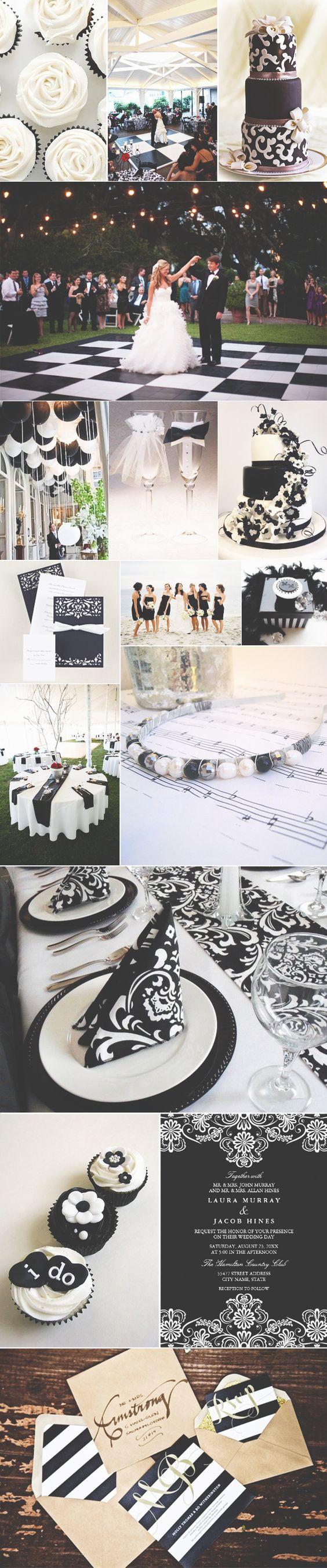 Decoração em preto e branco ♥: