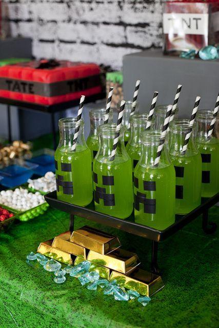 Festa Minecraft | Macetes de Mãe: