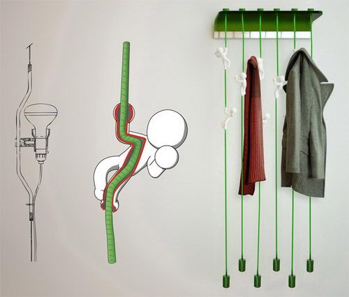 """Massimo Battaglia has created this little army of ambiguous acrobats to service all your hanging needs. Calling his design """"MagicBeans"""", it's a project that's the homage to the Jack and the Beanstalk story."""