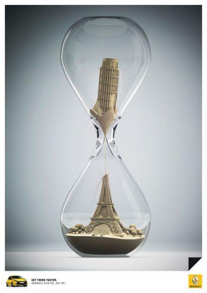 Hourglass, Pisa, Eiffel.