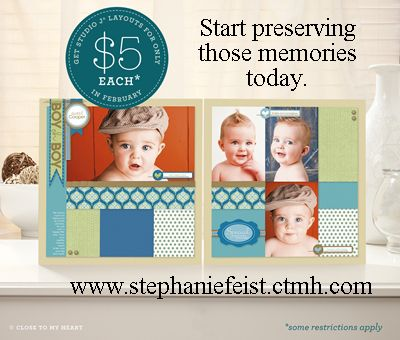 If you love scrapbooking but don't have the time for traditional scrapbooking, try digital scrapbooking from Close to My Heart.     http://www.stephaniefeist.ctmh.com/CTMH/Content.aspx?id=%2fen%2fsitecore%2fcontent%2fOBA%2fProducts%2fStudio_J.aspx