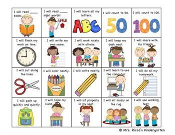 STUDENT GOAL SETTING CHECKLIST - TeachersPayTeachers.com