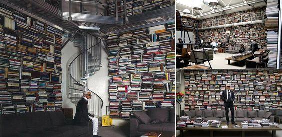 biblioteca particular de Karl Lagerfeld