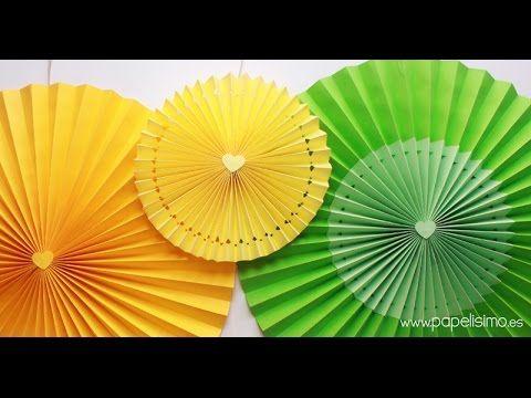 Decoración para cumpleaños: Cómo hacer rosetones de papel para decorar f...