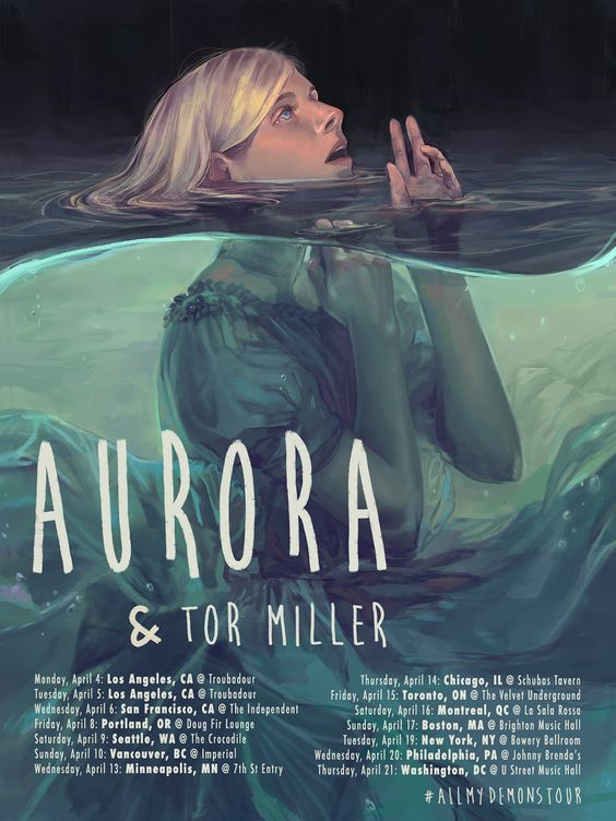 NØKK- Aurora Tour Poster on Behance