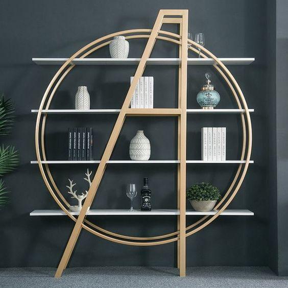 飾り棚 オープン 置き家具 インテリア おしゃれ イメージ 円形