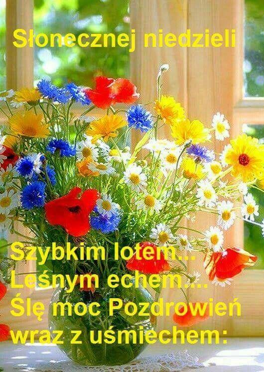 Pin By Wanda Swoboda On Niedziela Morning Flowers Sunday Greetings Flower Arrangements