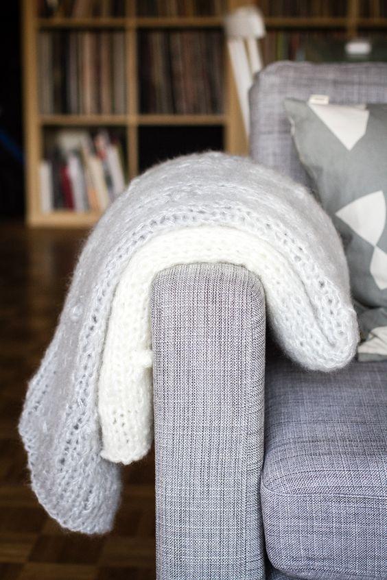 diy tricot le plaid nuage xxl tricot pinterest. Black Bedroom Furniture Sets. Home Design Ideas