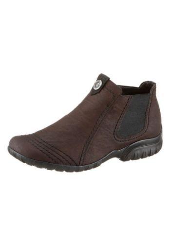 Stiefelette-Boots-Rieker-Synthetik-in-Nubukoptik-Gr-39-Weite-F-normal-neu