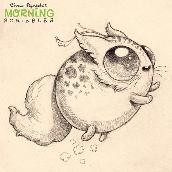 Gallery For gt Cute Weird Creature Drawings