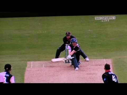 REVERSE SWEEP: Not a brand new way to clean the floor but an innovative way to sweep the ball and score runs. Invented by the great Hanif Mohammed of Pakistan, it has proved a potent weapon to bamboozle spin bowlers. Have a look-see, but please don't try this at home.